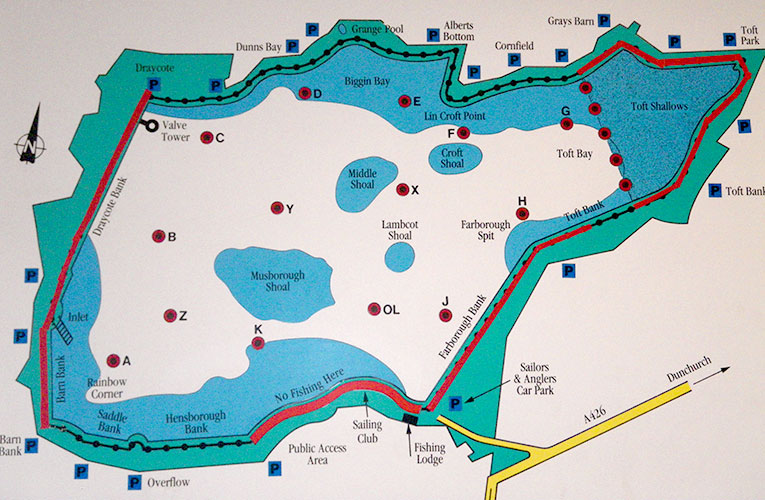 Fry Feeders - Draycote Map
