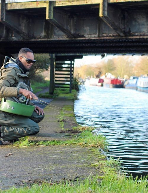 Perch Fishing on a London Canal
