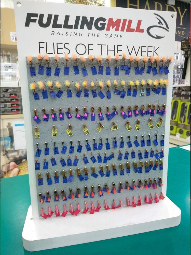 Fulling Mill fly of the week board