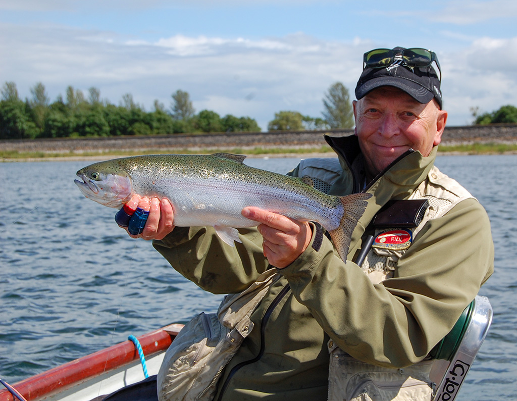 Guido Vinck with a beautiful spring trout...