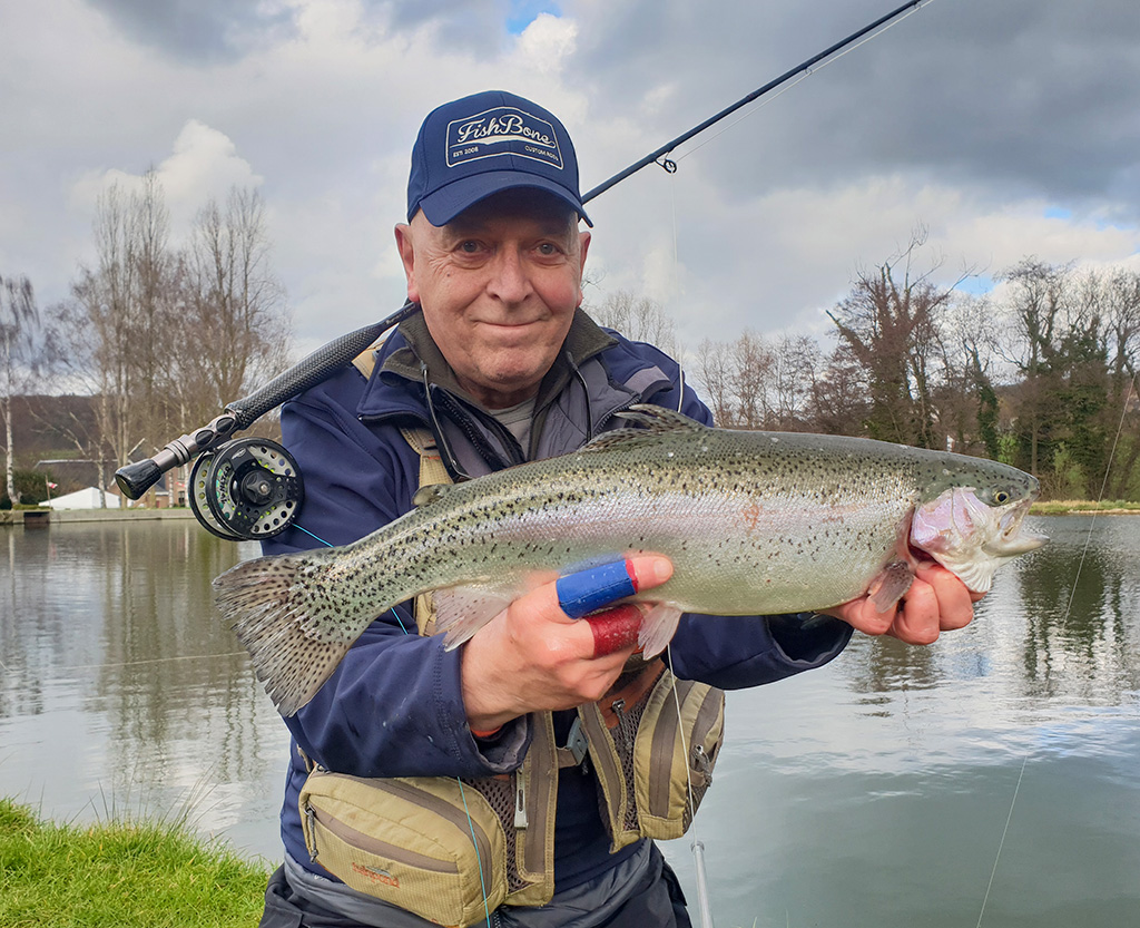 Spring trout caught from a smallwater